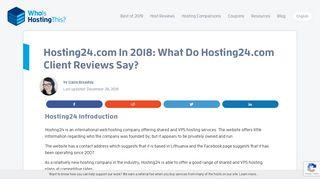 Hosting24.com In 2019: What Do Hosting24.com Client Reviews Say?