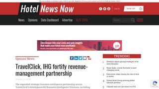 HNN - TravelClick, IHG fortify revenue-management partnership