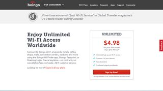 Hotspots Worldwide and Unlimited Wireless Internet | Boingo, Inc