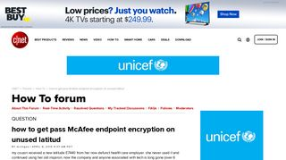 how to get pass McAfee endpoint encryption on unused latitud ...