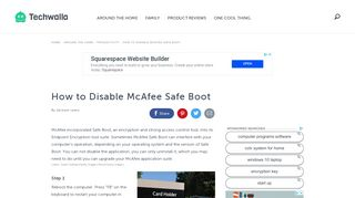 How to Disable McAfee Safe Boot | Techwalla.com