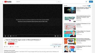 How to change the logon screen in Microsoft Windows 7 - YouTube