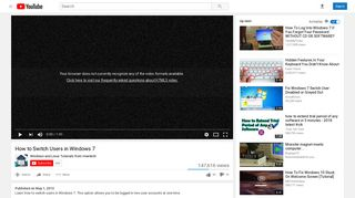 How to Switch Users in Windows 7 - YouTube