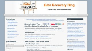 How to Protect Your Sensitive Data with a Login Form in Access - Data ...