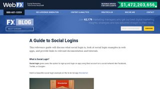 A Guide to Social Logins