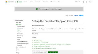 Set Up the Crunchyroll App on Xbox 360 | Xbox 360 Apps