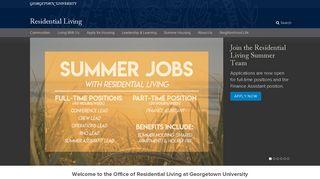 Student Living | Georgetown University