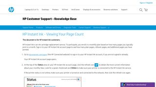 HP Instant Ink - Viewing Your Page Count | HP® Customer Support