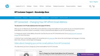HP Connected - Changing Your HP ePrint Email Address | HP ...