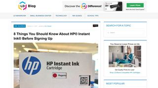 8 Things You Should Know About HP® Instant Ink® Before Signing Up ...