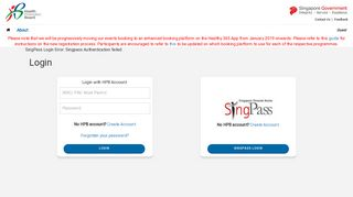 Login - HPB Events Registration