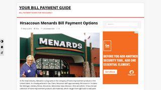 Www.hrsaccount.com Menards Login and Bill Payment