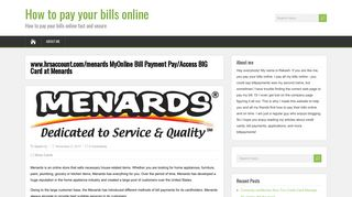 www.hrsaccount.com/menards MyOnline Bill Payment Pay/Access ...