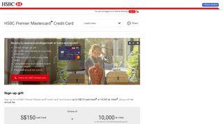 HSBC Premier Mastercard Credit Card | HSBC Singapore