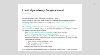 I can't sign in to my Google account - HTC