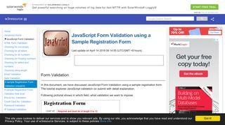 JavaScript : A sample registration form validation - w3resource