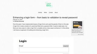Enhancing a login form – from basic to validation to reveal password ...