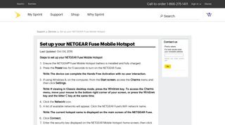 Set up your NETGEAR Fuse Mobile Hotspot - Sprint