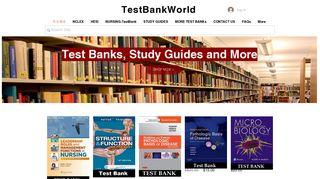 TestBankWorld - NURSING TEST BANKS - Study Guides