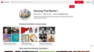 Nursing Test Banks ! (nursingtestbank) on Pinterest
