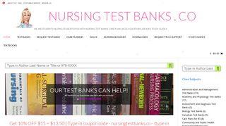 NURSING TEST BANKS . CO • Students Helping w Test Banks, Care ...
