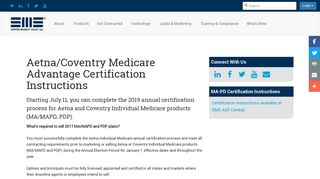 Aetna/Coventry Medicare Advantage Certification Instructions ...