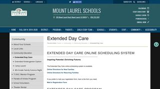 Mount Laurel Schools - Extended Day Care