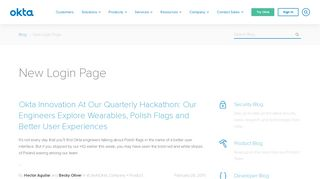 New Login Page | Okta