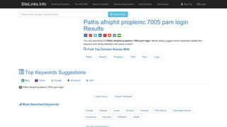 Paths afniphil propleinc 7005 pam login Results For Websites Listing