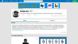 Profile - Roblox