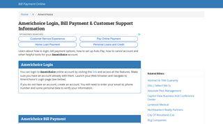 Americhoice Login, Bill Payment & Customer Support Information
