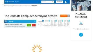 The Ultimate Computer Acronyms Archive - studyres.com