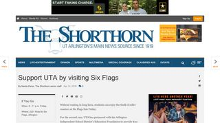 Support UTA by visiting Six Flags   News   theshorthorn.com