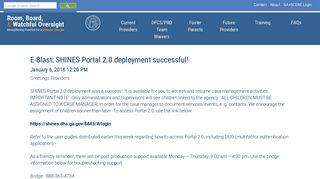 GA+SCORE: SHINES Portal 2.0 deployment successful!