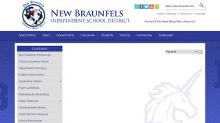 Extended hours for new elementary student ... - New Braunfels ISD