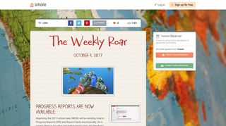 The Weekly Roar | Smore Newsletters for Education