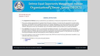 DEOCS Survey Login