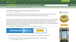 Someone is trying to reset my facebook password