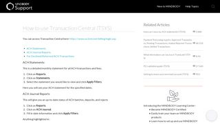 How to use Transaction Central (TSYS) - MINDBODY Support