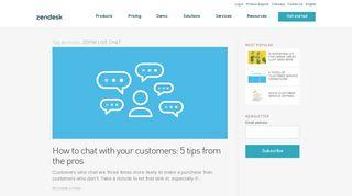 zopim live chat | Zendesk