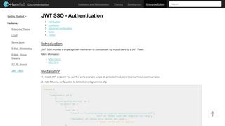 JWT - SSO - Features - HumHub - Documentation