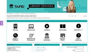 - Hunter & Central Coast Library Services - Library Home at TAFE ...