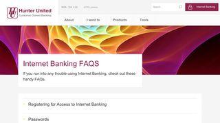 Internet Banking FAQ's - Hunter United Employees Credit Union