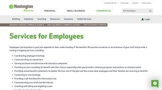 Employee Benefits Services | Huntington