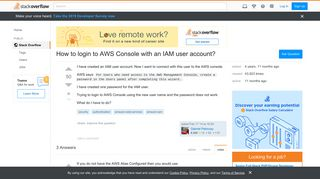 How to login to AWS Console with an IAM user account? - Stack Overflow