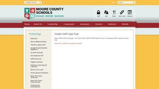 Simple IAM Login Page - Moore County Schools