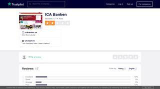 ICA Banken Reviews | Read Customer Service Reviews of icabanken.se