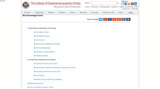 BoS Knowledge Portal - ICAI - The Institute of Chartered Accountants ...
