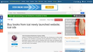 Buy books from icai newly launched website; icai cds ...
