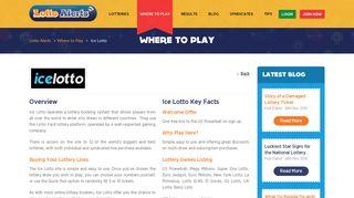 Ice Lotto - Lotto Alerts